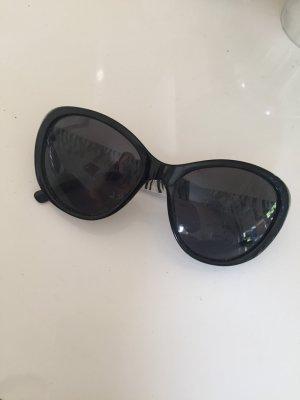 Steve Madden Occhiale da sole ovale nero-bianco sporco