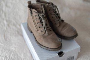 Steve Madden Stiefeletten Boots Schnürer grau