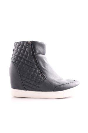 Steve Madden Wedge Sneaker schwarz-weiß Steppmuster Casual-Look