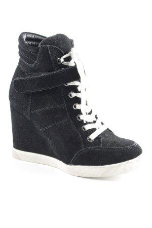 Steve Madden Wedge Sneaker schwarz-weiß schlichter Stil