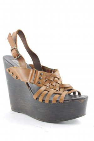 Steve Madden Wedge Sandals brown-beige Boho look