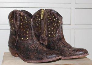 Steve Madden Western Boots, Neu & ungetragen, Usedlook, braun mit Nieten