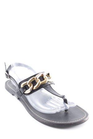 Steve Madden Sandalo toe-post nero-oro stile casual
