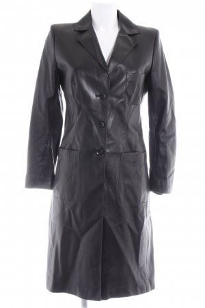 Steven Ashford Manteau en cuir noir style extravagant