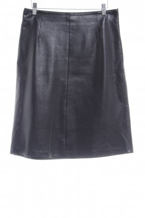 Steven Ashford Leather Skirt black brown vintage look