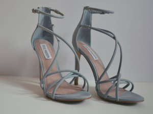High Heel Sandal azure-cornflower blue imitation leather
