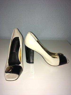 STEVEN MADDEN Schwarz und weiß elegante Schuhe 7 US 34.5 große