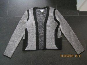 H&M Boléro en tricot noir-gris viscose