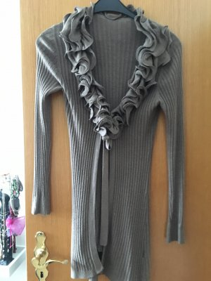 Veste en tricot taupe