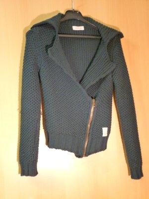 Replay Veste tricotée en grosses mailles vert foncé laine