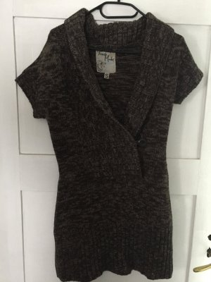 Sweater Dress bronze-colored cotton