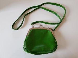 Mini Bag green leather