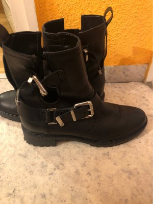 Zign Short Boots black-silver-colored