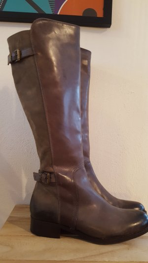 Vero Cuoio Jackboots grey brown-taupe leather