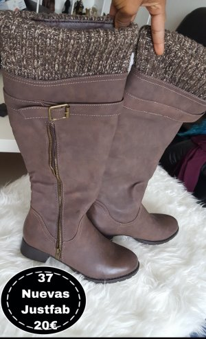 Just Fab Winter Boots dark brown