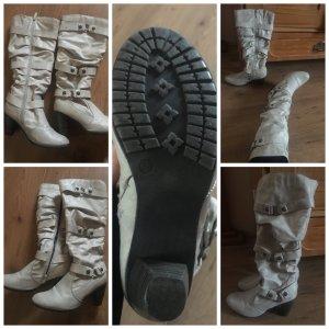 Anna Field Botas estilo militar gris claro-blanco