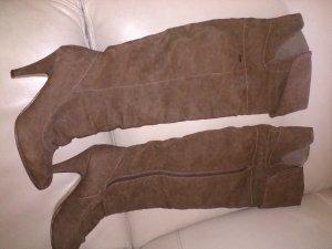 Kayla Kniehoge laarzen grijs-bruin