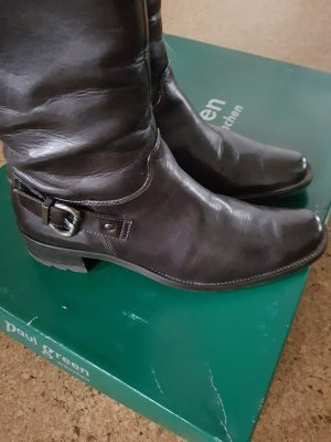 Paul Green Wide Calf Boots dark brown