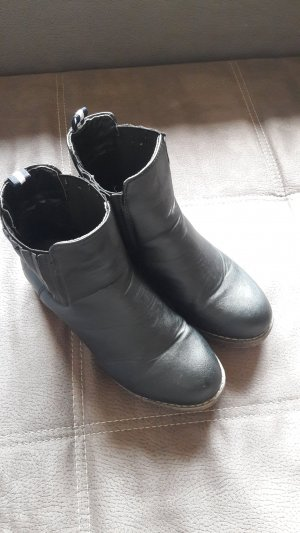 Bottines à enfiler noir-gris brun