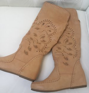 5th Avenue High Boots beige leather