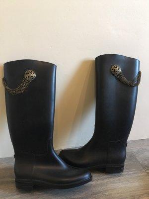 Sacha Botas de agua negro-color bronce