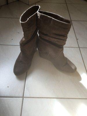 Plateauzool Laarzen grijs-bruin