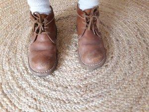 Botas con cordones marrón-coñac