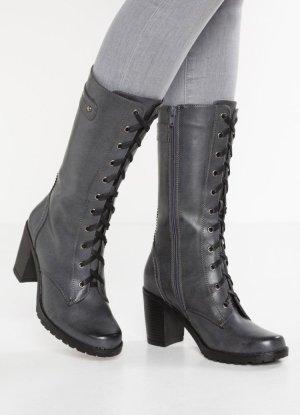 Anna Field Heel Boots grey-dark grey