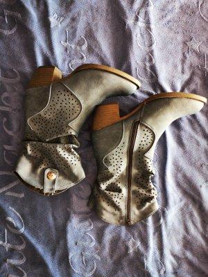 Laarzen met hak staalblauw
