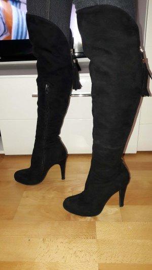 Catwalk Boots western noir daim