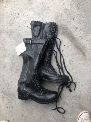 Tom Tailor Bottes à lacets noir