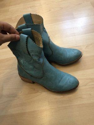 Korte laarzen korenblauw