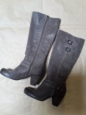 Graceland Heel Boots grey brown