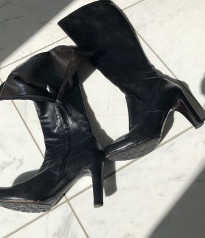 High Heel Boots black-black brown leather