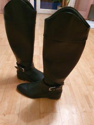 Zara Woman Jackboots black imitation leather