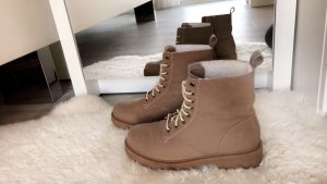 H&M Lace-up Boots camel