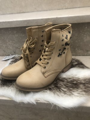 Lace-up Boots cream