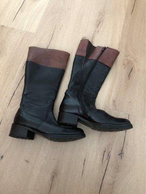 Rebecca Brown Botas estilo militar negro-marrón oscuro
