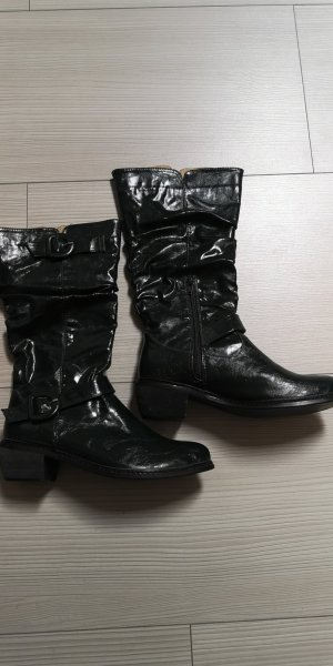 Slouch Boots dark green