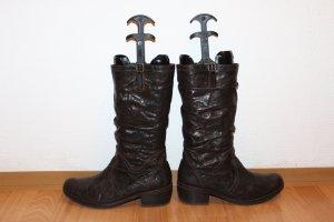 Stiefel Absatz Winterstiefel Braun Leder jolly's bei Gabor Bloger Lederstiefel 43