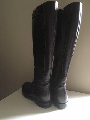 AGL Botas estilo militar marrón oscuro Cuero