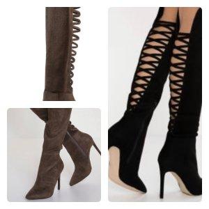 Aldo Heel Boots khaki