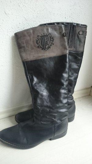 High Boots black-dark grey