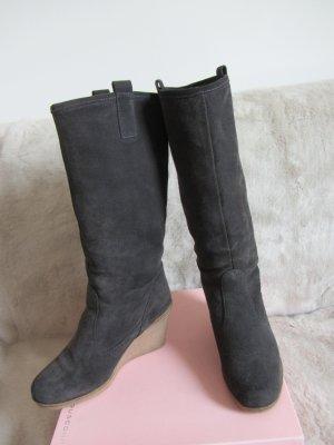 Stiefel aus grauem Wildleder MEXX, Gr. 37