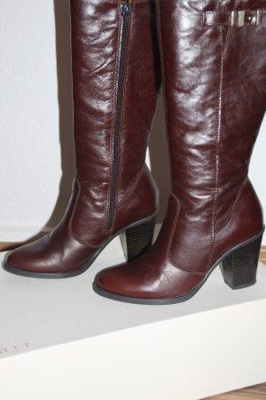 Stiefel aus Leder braunrot