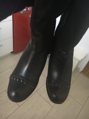 Next Botas con tacón negro Cuero