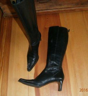 Stiefel aus Leder - schwarz