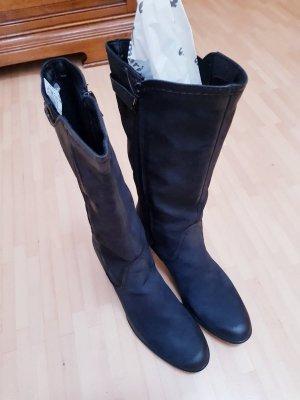 Stiefel aus Rauhleder von Tamaris, schwarz
