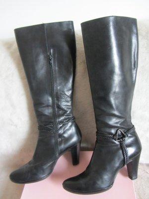 Stiefel aus schwarzem Leder LES-CO, Gr. 37