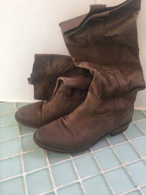 Stiefel aus Velourleder Gr 37,5
